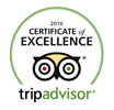 2016 Trip Advisor Winner - Certificate of Excellence Awarded